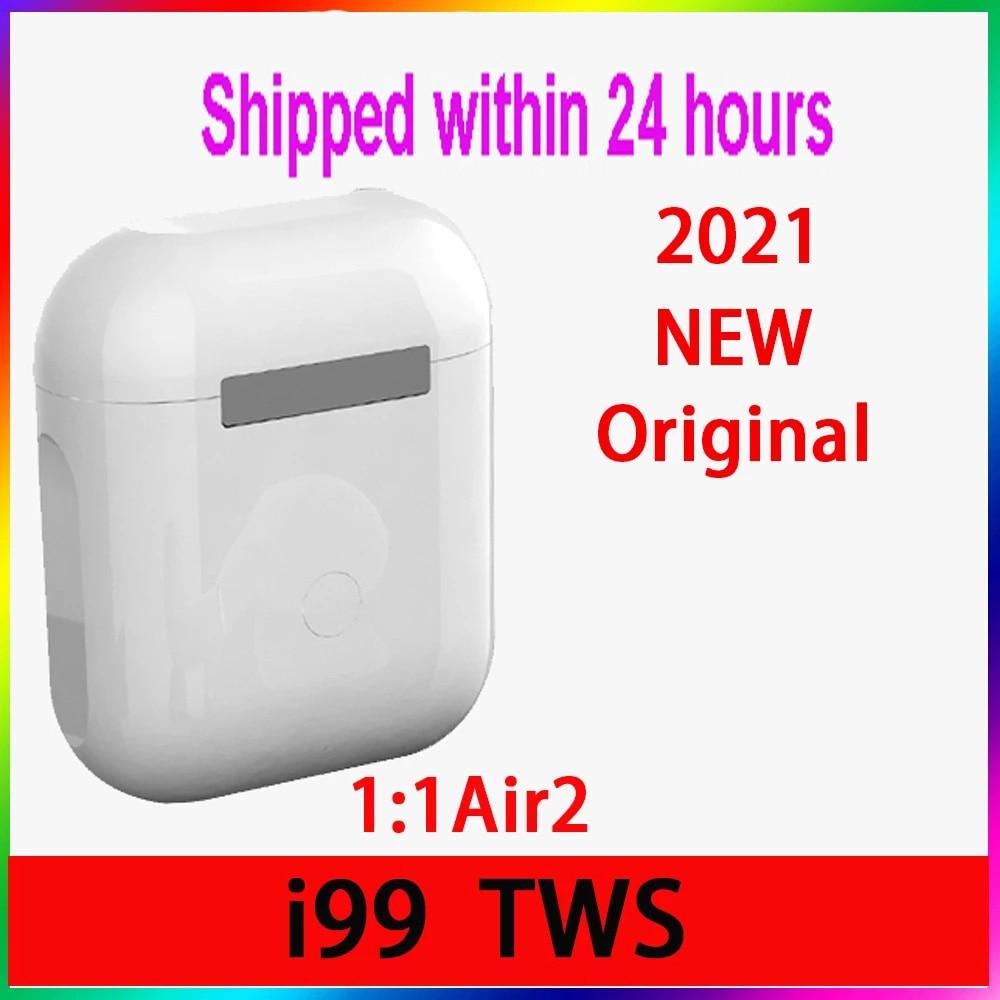 Original i99 Tws 1:1 GPS nombre auriculares Bluetooth inalámbricos PK i7 i11...