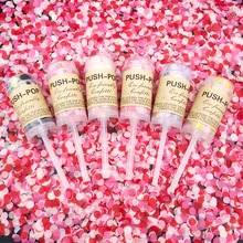 Décor rose/bleu pour fête de révélation des sexe   Confettis Pop Push Pop, canons Its a Boy/girl, accessoires de fête