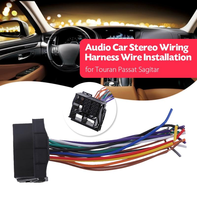 Автомобильный стерео жгут проводов аудио радио жгут ISO для VW Audi A3/4/6/8 BMW X5/X4 Dodge Mini Golf Jetta Passat автомобильные аксессуары 2019