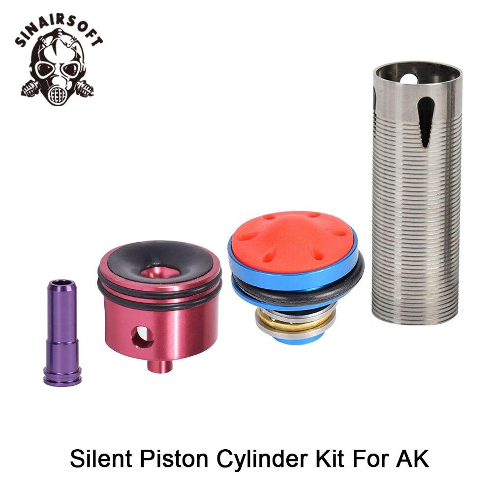 Hot Koop Ma 4 Stuks Cilinderkop/Piston Head/Nozzle/Cilinder Set Voor Ak Series Airsoft Aeg jacht Accessoires