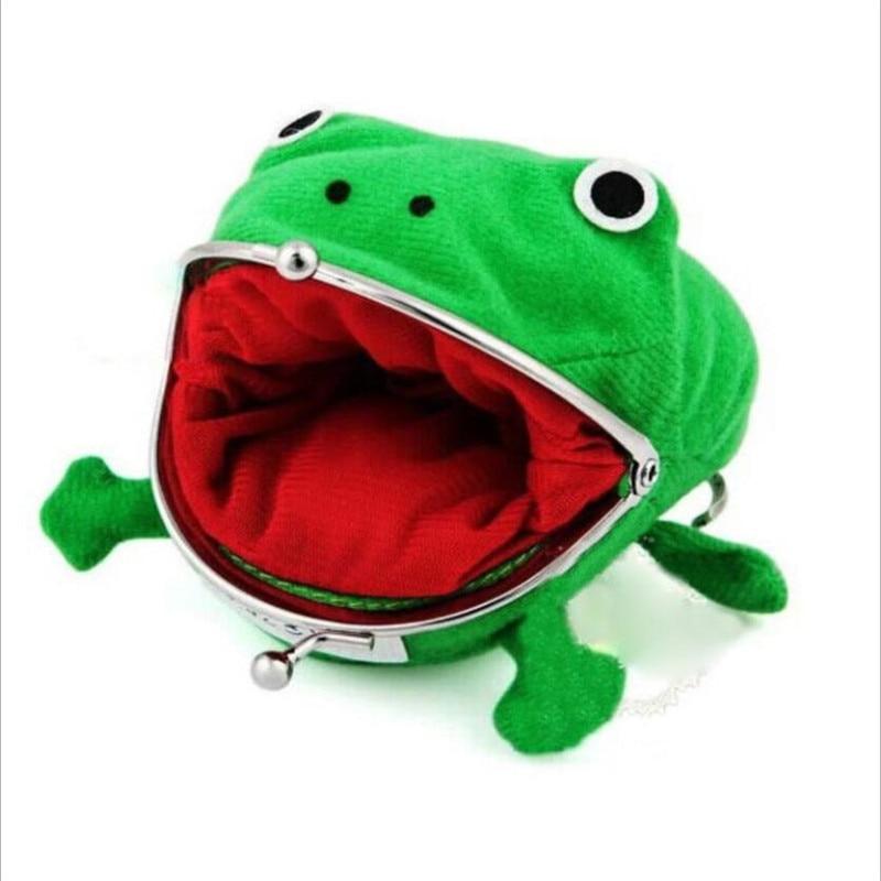 1 PC Frog Coin Purses Women's Wallet Pouch Manga Shape Fluff Clutch Cute Wallet Purse Coin Holder Ad