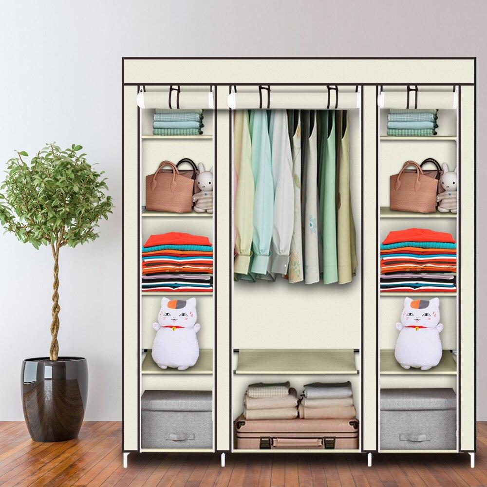 Portátil 5 Camada 12 Grade Roupas Closet Wardrobe Organizador De Armazenamento De Tecido Não-Tecido Rápida fácil de Montar Extra Forte durável