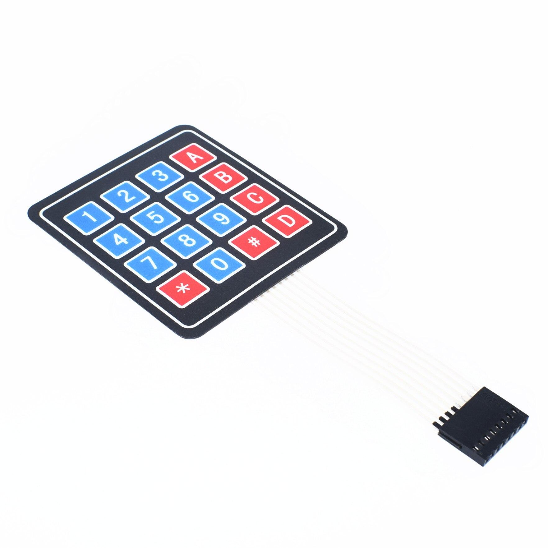 1 Stks/partij 4*4 Matrix Array/Matrix Keyboard 16 Key Membraan Switch Toetsenbord 4X4 Matrix Toetsenbord h75