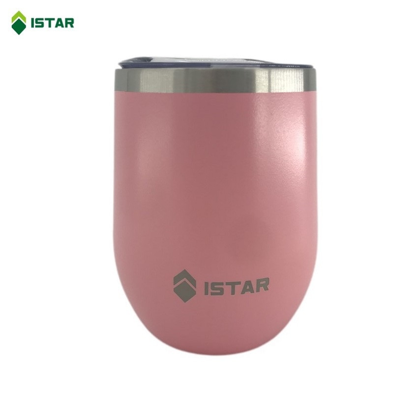 AliExpress - ISTAR Wine Tumbler 12oz Beer Cup Coffee Mug, 18/8 Stainless Steel Vacuum Insulated With Lid, 350ml