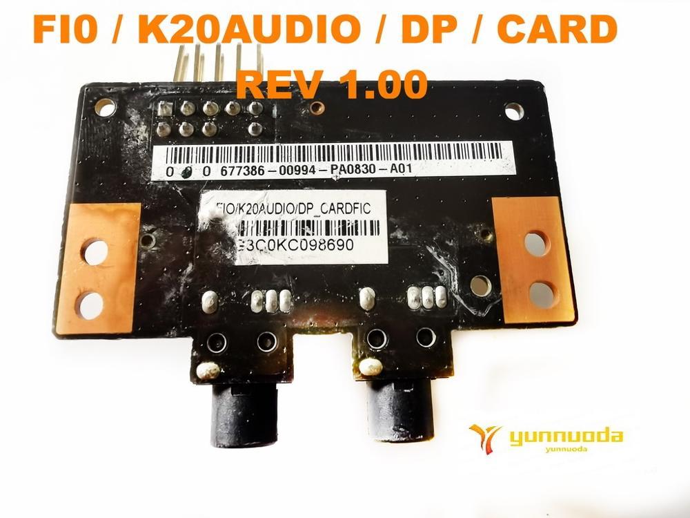 الأصلي ل ASUS FI0 K20AUDIO DP بطاقة REV 1.00 اختبار جيد شحن مجاني