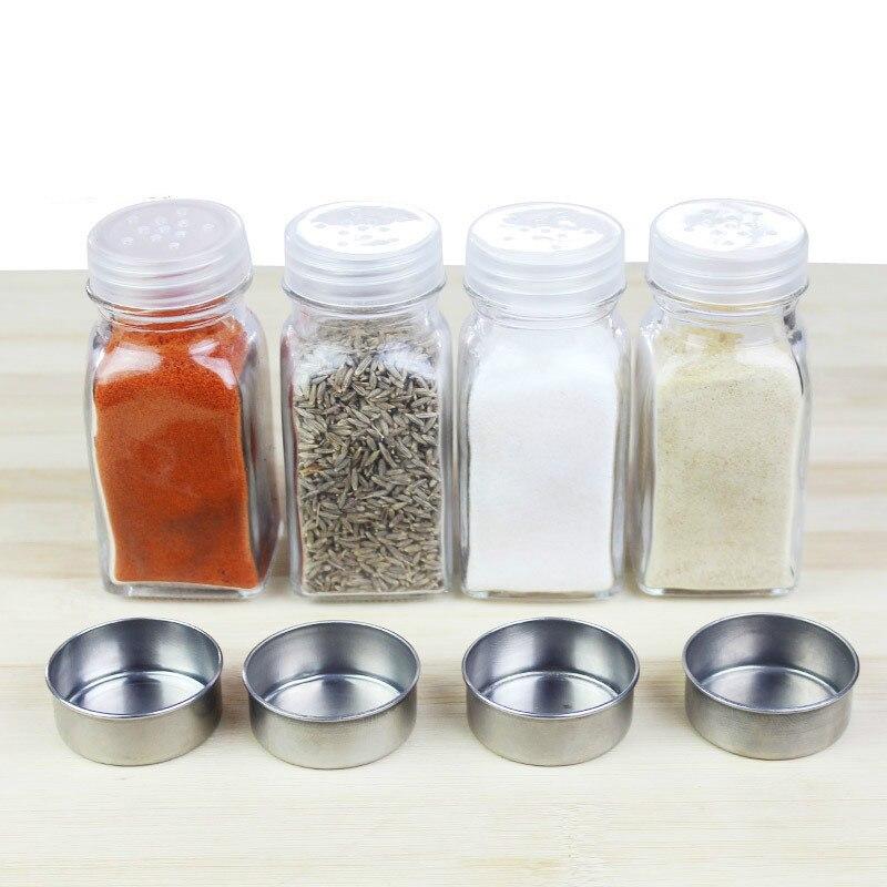 Acessórios de cozinha armazenamento frasco de vidro pimenta tempero garrafa churrasco ferramenta tempero baunilha wy10314