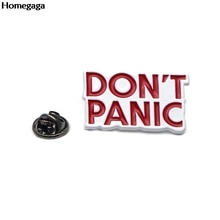 D0669 Homegaga Don PANIC pins para backpack одежда металлические значки броши для сумки рубашка