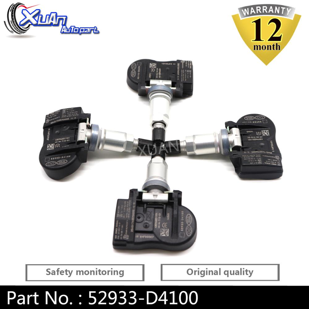 XUAN 4PCS TPMS Tire Pressure Monitor Sensor For Hyundai ELANTRA I30 FASTBACK KIA OPTIMA NIRO Sorento 2015-2022 52933-D4100