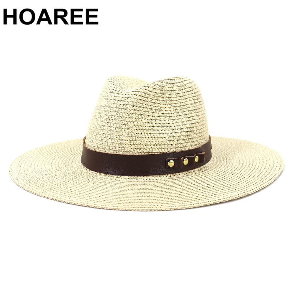 Wide Brim Straw Fedora Panama Hat Hats for Women Sun Beach Protection Sombreros