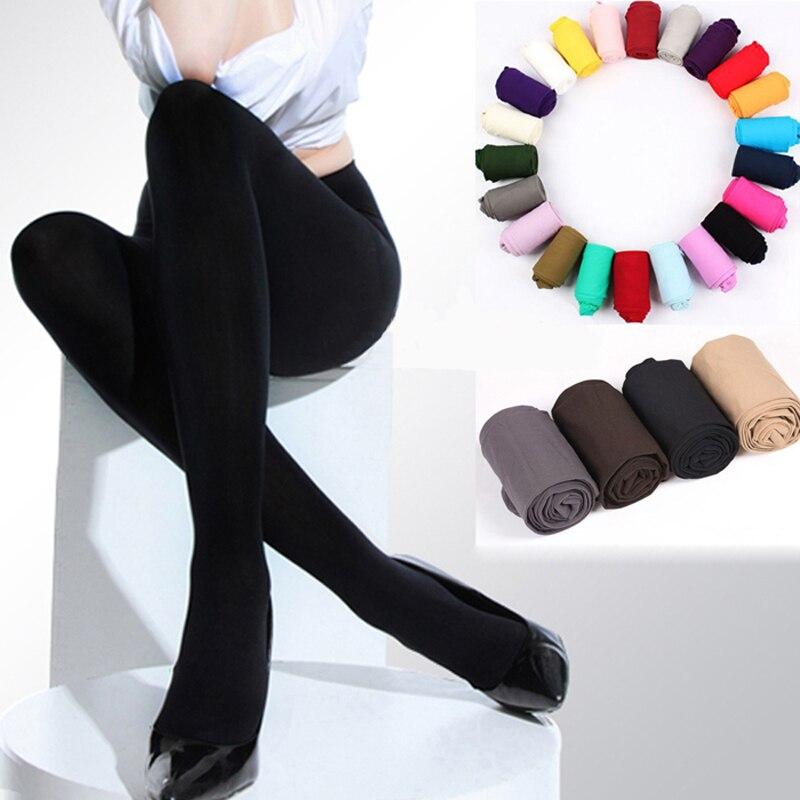 2019 mujeres Otoño Invierno gruesas polainas cálidas cepilladas forro elástico pantalones de lana pisar los pies Leggings calzas de gran elasticidad