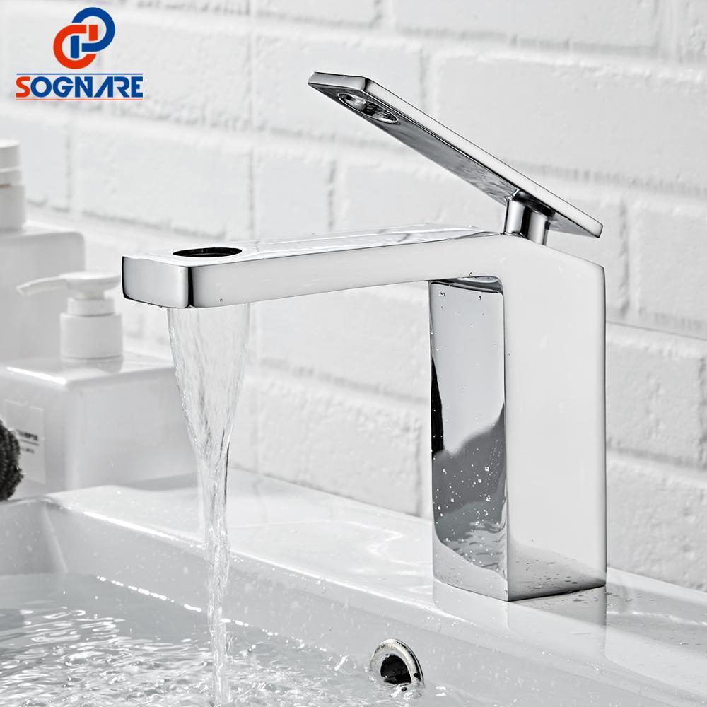 SOGANRE Cuenca del Grifo del baño Torneira Para Banheiro Grifo cromado cuenca...