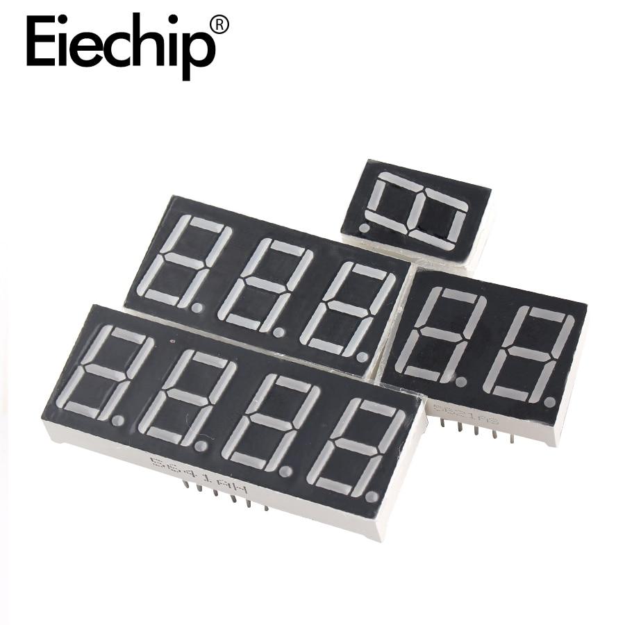 Светодиодный дисплей 0,4 дюйма, 7 сегментов, 1 бит, 2 бит, 3 Бит, 4 бит, Красный дисплей, общий анод/катод 0,4 дюйма, 7-сегментная светодиодная Плата д...