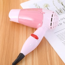 Mini Foldable Hair Dryer Blower Travel Household Electric Hair Blow Dryer Hot Wind Low Noise Hairdryer Fan EU Plug AC 1000W 200V