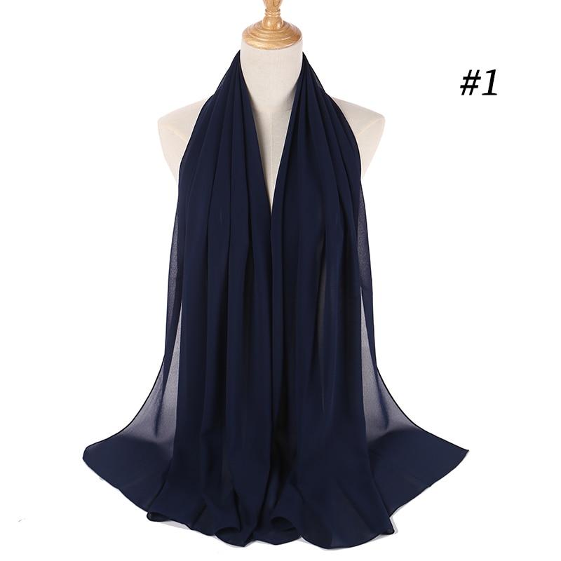 2020 New Big Size High Quality Bubble Chiffon Women Muslim Hijab Scarf Shawl Wrap Solid Plain 47 Colors 270pcs/lot