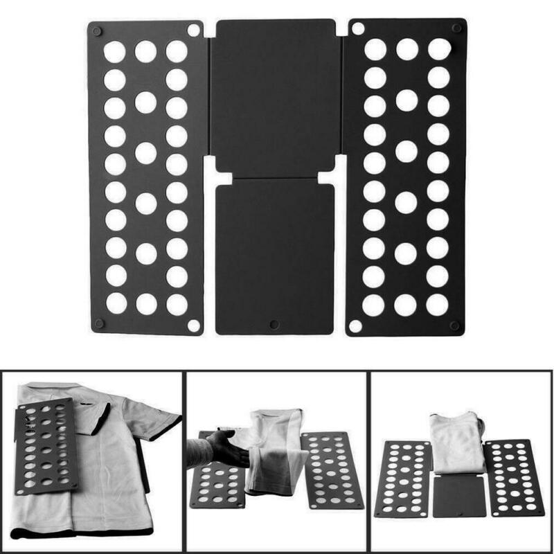 Magic Clothes Folder T Shirts Jumpers Organiser Fold Save Time Quick Clothes Folding Board Clothes Holder Children's clothes folding board fast cloth folder plastic t shirts jumper organizer save time quick convenient stacking laundry fold board