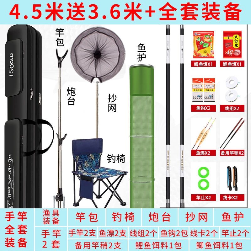 Portable Extension Fishing Rod Travel Spinning Ultra Light Carbon Case Fishing Rod Combo Carp Organizer Angelrute Sports HX50RC enlarge