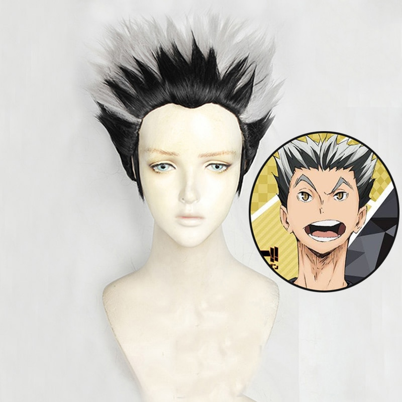 Anime Haikyuu!! Fukurodani Kotaru Bokuto Kurze Perücke Cosplay Kostüm Wärme Beständig Synthetische Haar Haikiyu Männer Frauen Perücken