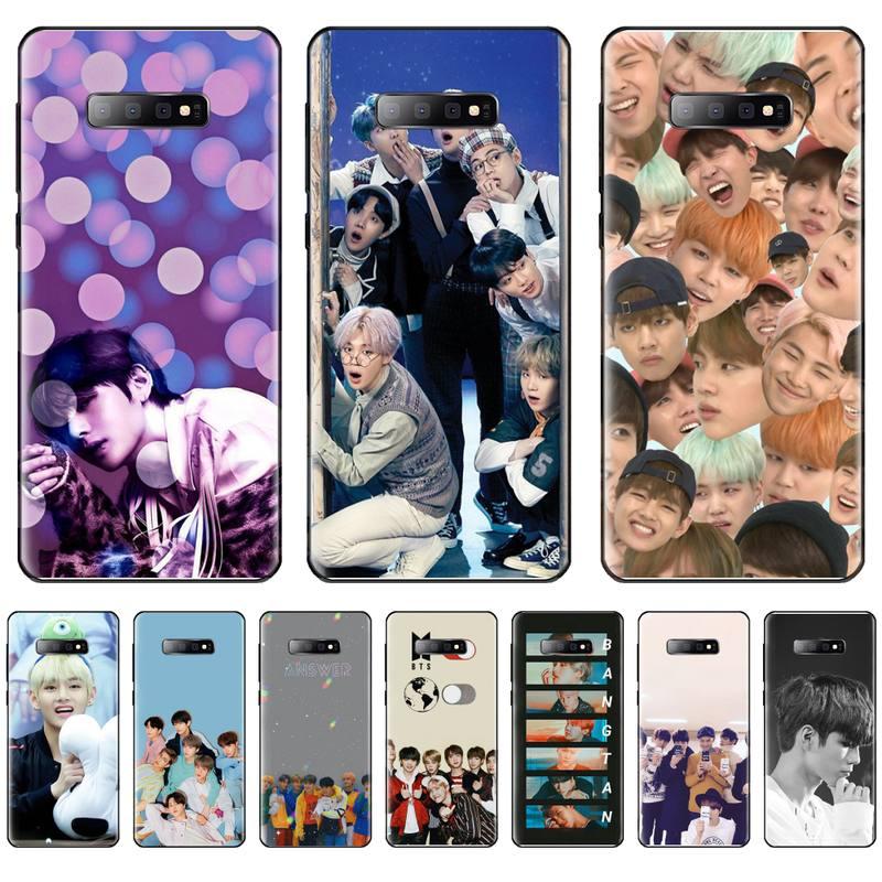 Kpop Bangtan niños caso de teléfono para Samsung S6 S7 borde S8 S9 S10 e plus A10 A50 A70 note8 J7 2017