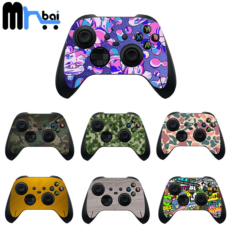 Game Handle Sticker Decal Protective Skin Pvc Anti-skid Colorful Camo Case Cover Skin Sticker For Xbox One, S, X, PS5 Controller