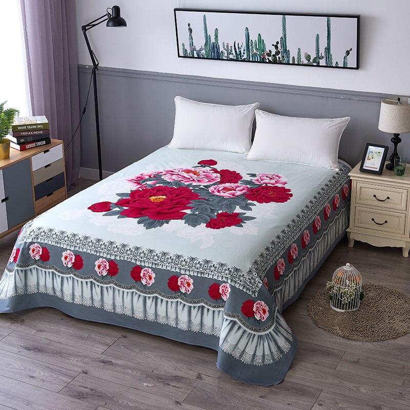 ثلاثية الأبعاد الزهور النسيج الفراش العصرية المنزلية الجاكار غطاء سرير ألوان قوس قزح فراش المفرش (لا المخدة) F0196