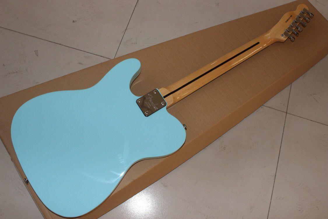 Custom shop,electric guitar.blue color f hollow body jazz gitaar,handmade 6 stings guitarra,rosewood fingerboard. enlarge