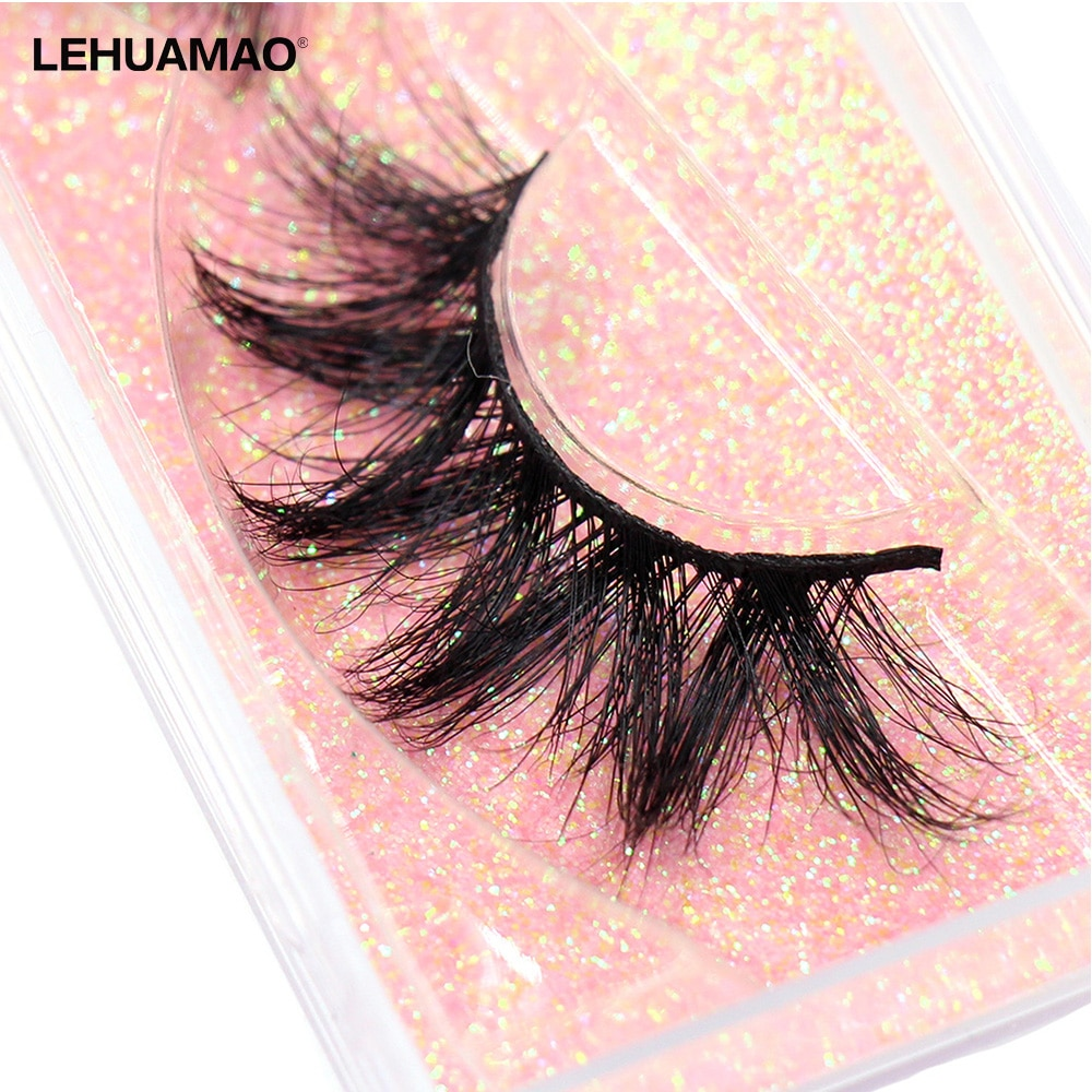 LEHUAMAO Makeup Mink eyelashes Soft fake lashes makeup kit Mink Lashes extension mink eyelashes Handmade Reusable Eyelashes недорого