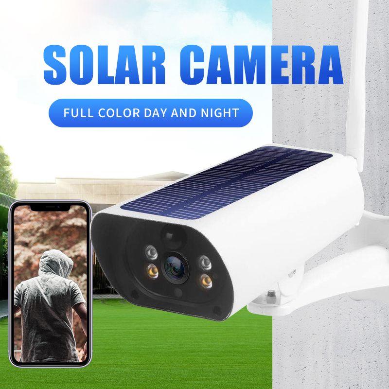 Nueva Energía Solar 4g tarjeta sim 2MP cámaras IP P2P recargable COLOR IR visión red exterior cámaras 4g Cámara solar