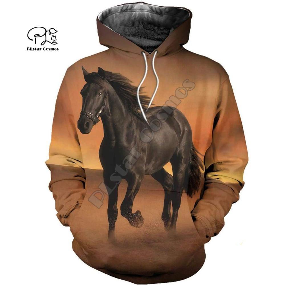 PLstar Cosmos cheval Art Animal survêtement 3 dprint sweat à capuche/sweat/veste/MenWomen décontracté Harajuku coloré coupe style-5