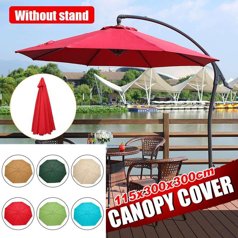 300 cm Parasol Patio Sunshade Umbrella Cover Courtyard Swimming Pool Beach pergola Waterproof Outdoor Garden Canopy Sun Shelter
