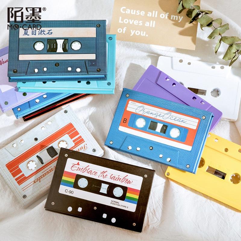 Bloc de notas de Color de la banda de sonido Vintage para hacer listas, Bloc de notas, decoración creativa para oficina, accesorios, material de papelería escolar