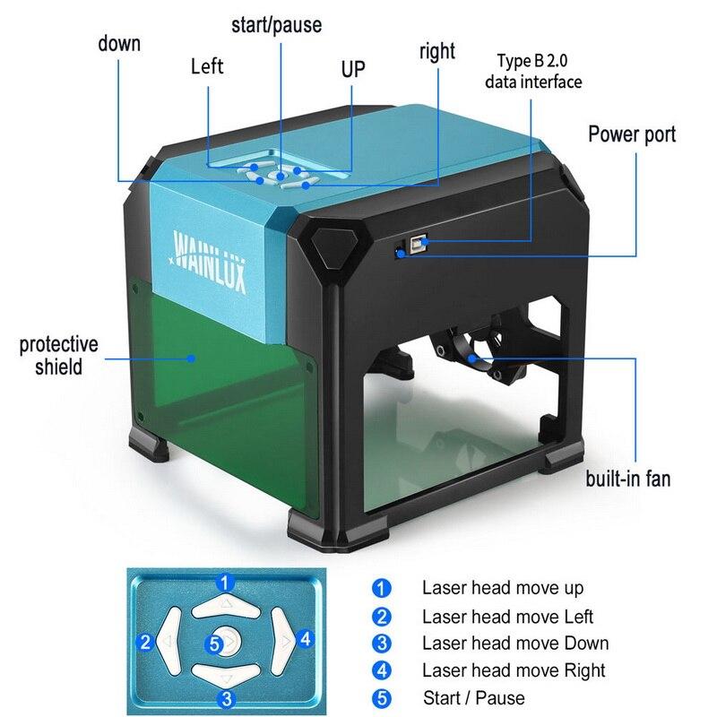 3000mw CNC Laser Engraving Machine DIY Automatic CNC Wood Router Laser Cutter Engraver Cutting MachineMini Laser new year gift