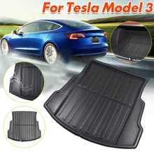 Voiture Cargo Liner plateau de démarrage couverture de coffre arrière Mat tapis de sol tapis boue antidérapant Anti-poussière étanche pour Tesla modèle 3