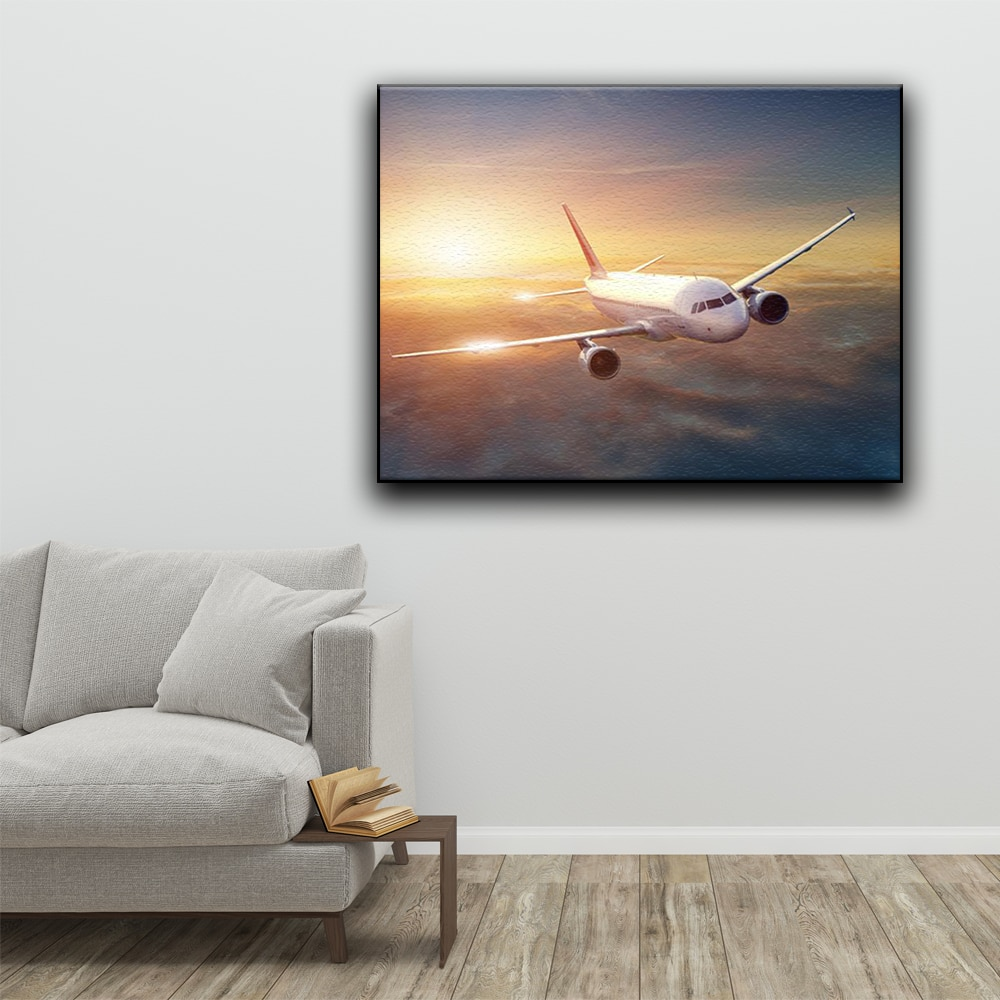 DIY Painting By Numbers Aircraft Landscape Pictures Airplane Coloring On Canvas Wall Art Decor Unique Gift For Child