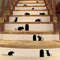 Autocollant mural avec trou de souris  Sticker mural pouvant etre retire  personnalise  motif Animal creatif  Art  decoration de la maison  Diy bricolage