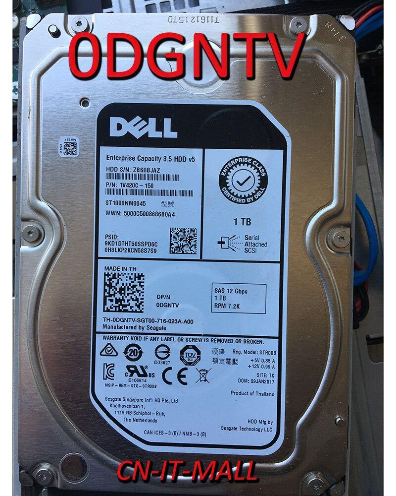 "Pulled 0DGNTV DGNTV ST1000NM0045 1TB 7200 RPM 512n 128MB Cache SAS 12Gb/s 3.5"" Internal Enterprise Hard Drive"