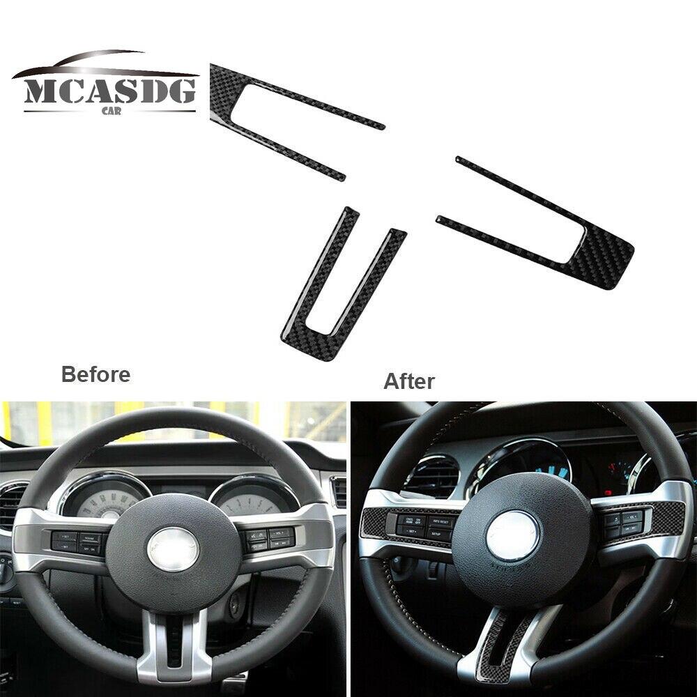 Отделка панели рулевого колеса из углеродного волокна для Ford Mustang 2009-13