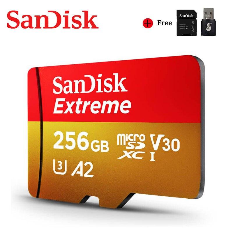 SanDisk carte Micro SD dorigine A2 400GB 256GB 128GB 64GB 32GB carte Menory carte Ultra microsd extrême 4K V30 TF carte Flash
