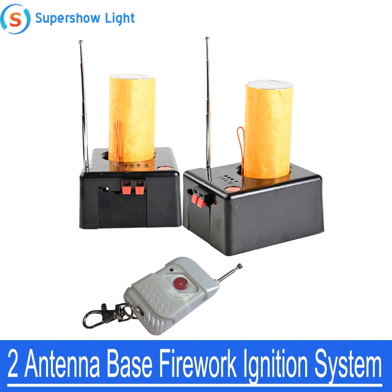 2 Pcs Cold Pyrotechnics Firing System Cold Firework Ignition Machine Fireworks Remote Control Machine