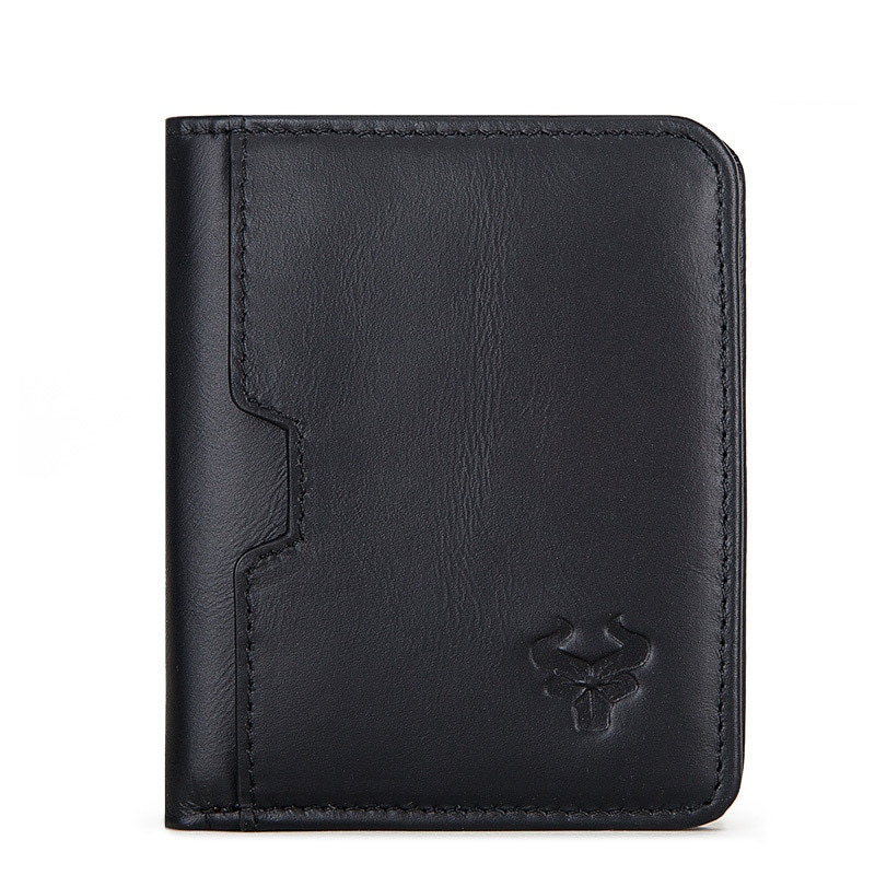 Men's Genuine Leather Wallet High Quality Cowhide Vintage Short Wallets Male Casual Thin Coin Purse
