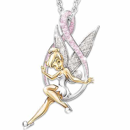 Berbeny rosa flor colar de fadas para mulher menina bonito asas de anjo amor coração acreditar cristal elf pingente colar de jóias