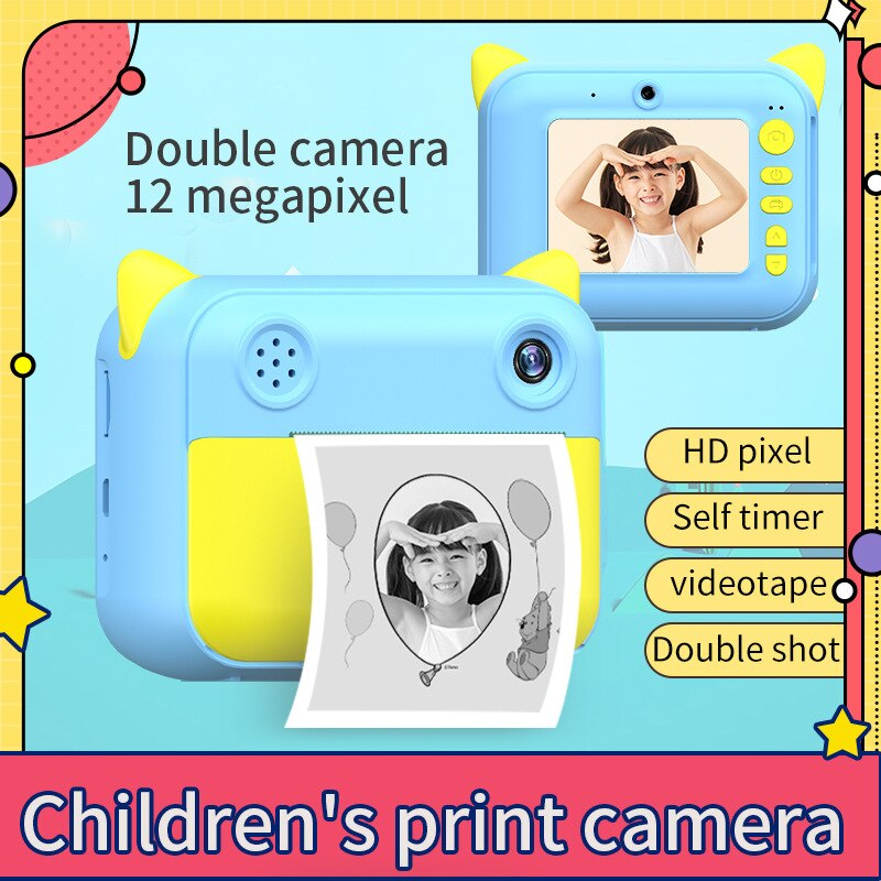 Children Camera Instant Print Camera For Kids Camera 1080P HD Digital Camera with Photo Paper Child Toy Camera For Birthday Gift enlarge