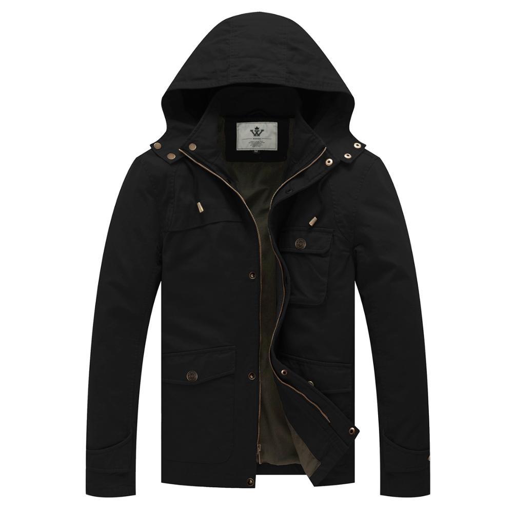 Мужская куртка в стиле милитари, уличная ветровка, осенняя Повседневная хлопковая куртка, классические куртки на молнии