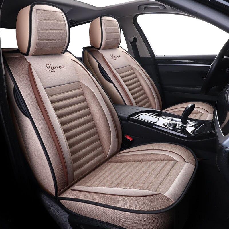 Lin housses de sièges de voiture universelles   Pour chevrolet blazer caprice captiva cobalt colorado cruze epica equinox de 2018 2017 2016 2015