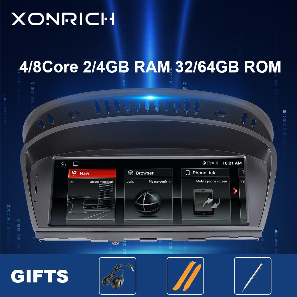 8 الأساسية 128GB أندرويد 10 راديو السيارة لسيارات BMW سلسلة 5/3 E60 E61 E62 E63 E90 E91 CIC CCC مشغل وسائط متعددة لتحديد المواقع والملاحة رئيس وحدة