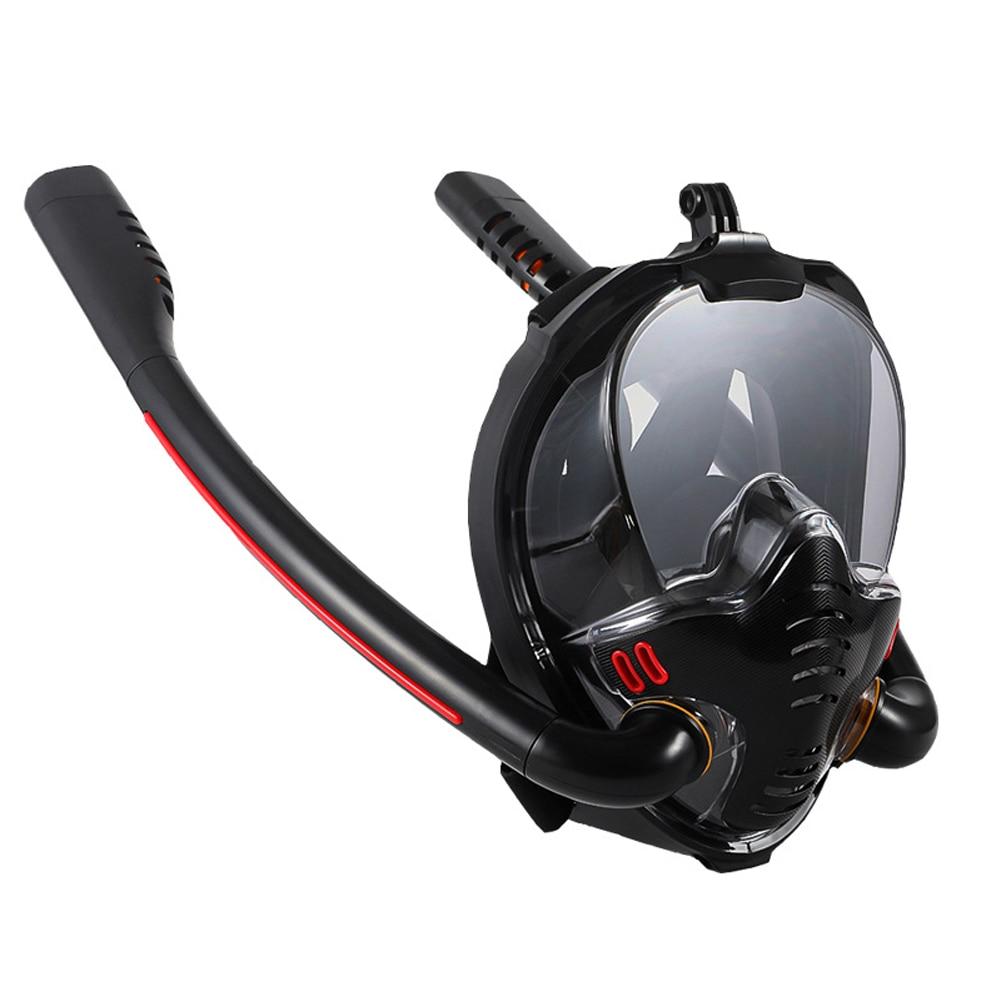 Swimming Mask Full Face Double Breathing Tube Snorkeling Scuba Anti-fog Snorkeling Diving Mask Underwater Spearfishing Mask