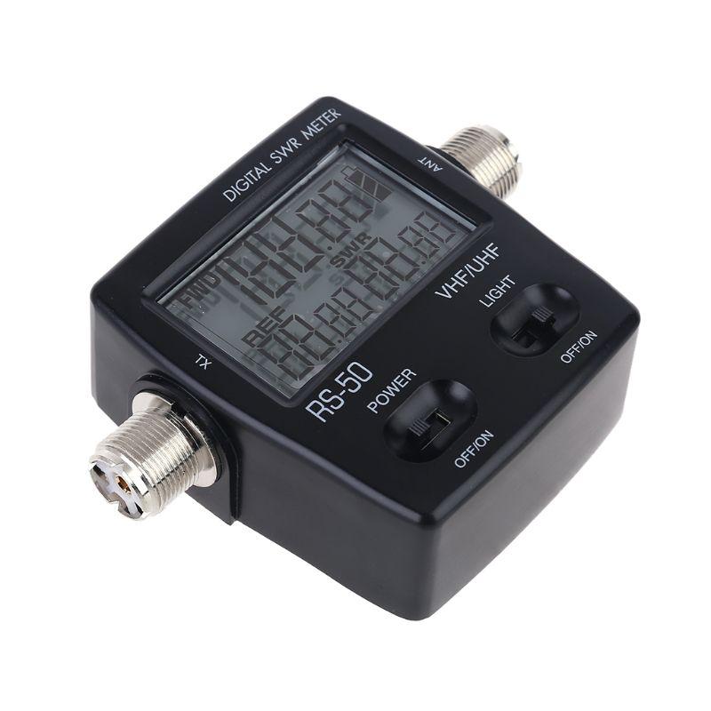 NISSEI RS-50 Digital SWR Watt Meter 125-525MHz UHF / VHF M Type Connector Micro enlarge