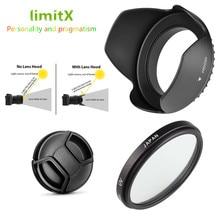 3 en 1 conjunto lente con filtro ultravioleta capucha tapa para Panasonic Lumix FZ330 FZ300 FZ200 FZ150 FZ100 FZ60 FZ62 FZ48 FZ47 FZ40