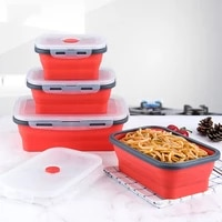 3pcsset bowl sets silicone folding lunch box folding bowl portable silicone folding bowl foldable food storage bento container