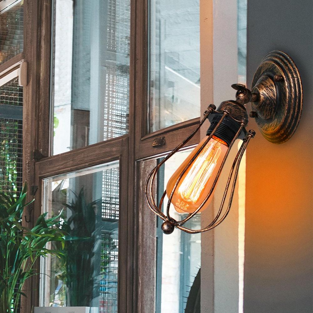 Винтажная настенная лампа в стиле индастриал, американсветильник комнатное освещение, прикроватные светильники для коридора, бра, спальни, домашнее декоративное настенное освещение