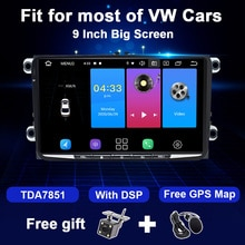 2 din android rádio do carro navegação gps para vw passat b6 amarok volkswagen skoda octavia 2 superbseat leon golf 5 6 multimídia